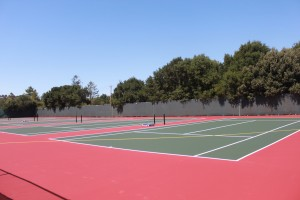 Carlmont's new tennis courts
