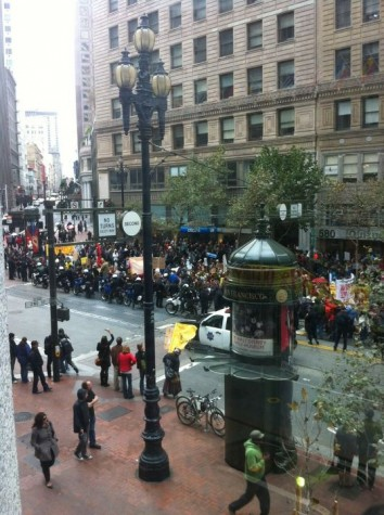 The 99 percent marches on Market Street