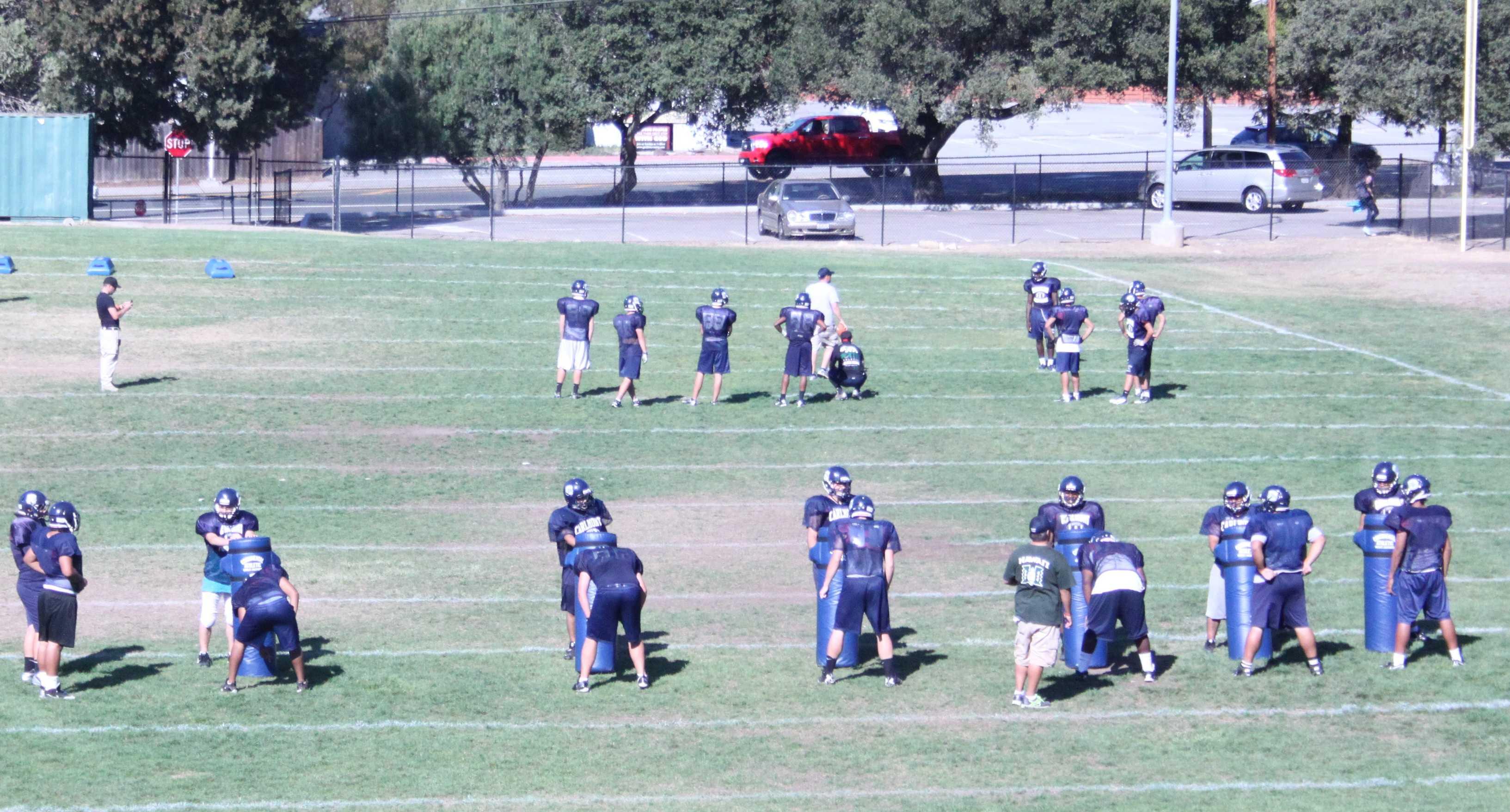 A Carlmont Varsity Football Practice