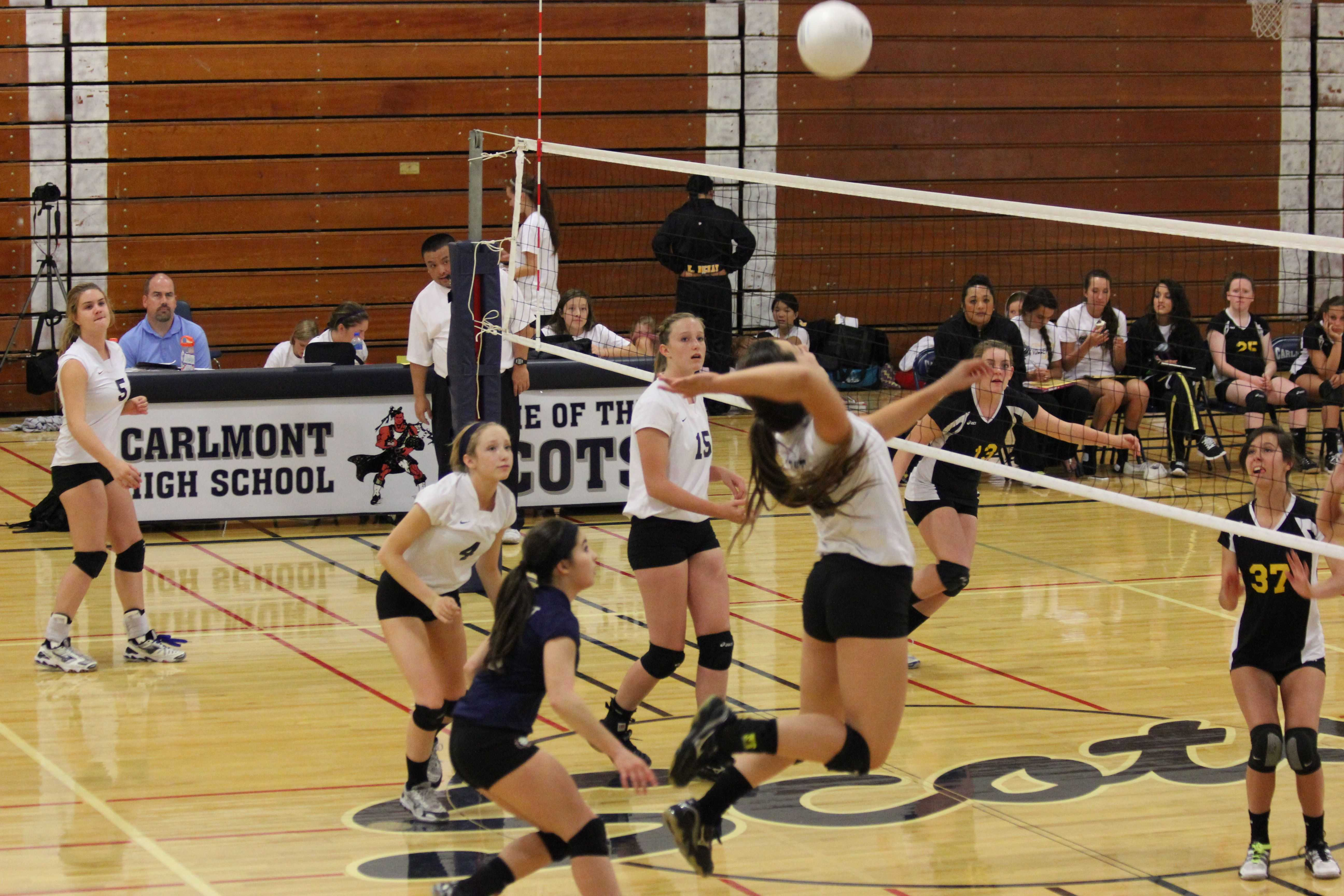 Frosh-soph volleyball successful at the net