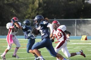 Junior varsity football takes decisive victory