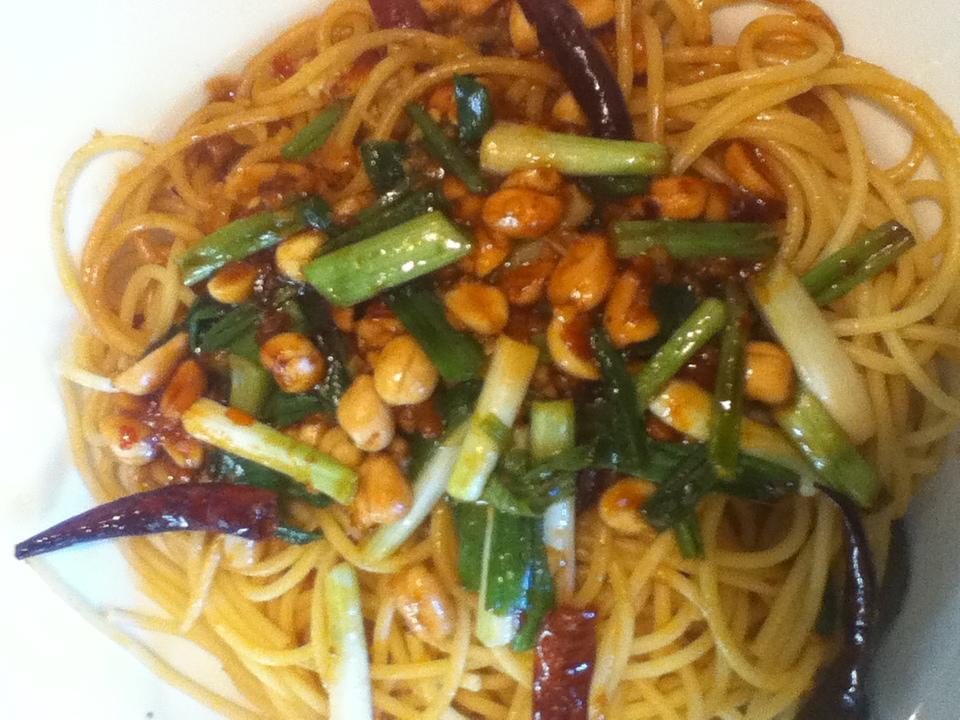 Kung Pao Spaghetti at California Pizza Kitchen