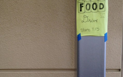 The canned food drive gets rolling