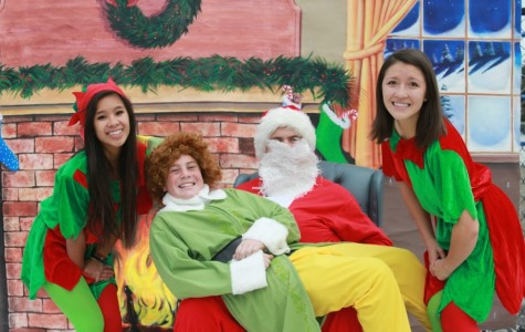 Santa and Buddy the Elf pictures