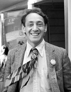 Harvey Milk in the Castro circa 1977