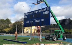 New scoreboard for the field
