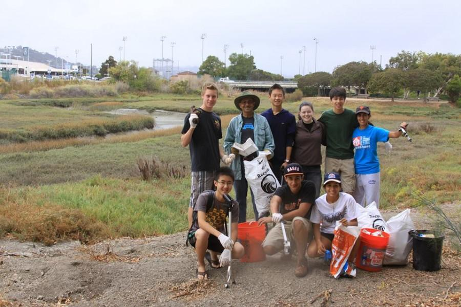 GYA+at+the+California+Coastal+Clean-Up+Day+event+on+Sept.+21.+From+left+to+right%2C+top+row%3A+Franklin+Rice%2C+Mr.+D%27Souza%2C+Nathan+Lu%2C+Morgan+Finlayson%2C+Brandon+Whiteley%2C+and+Bita+Shahrvini.+Bottom+row%3A+James+Xie%2C+Belal+Kaddoura%2C+and+Gabby+D%27Souza.+