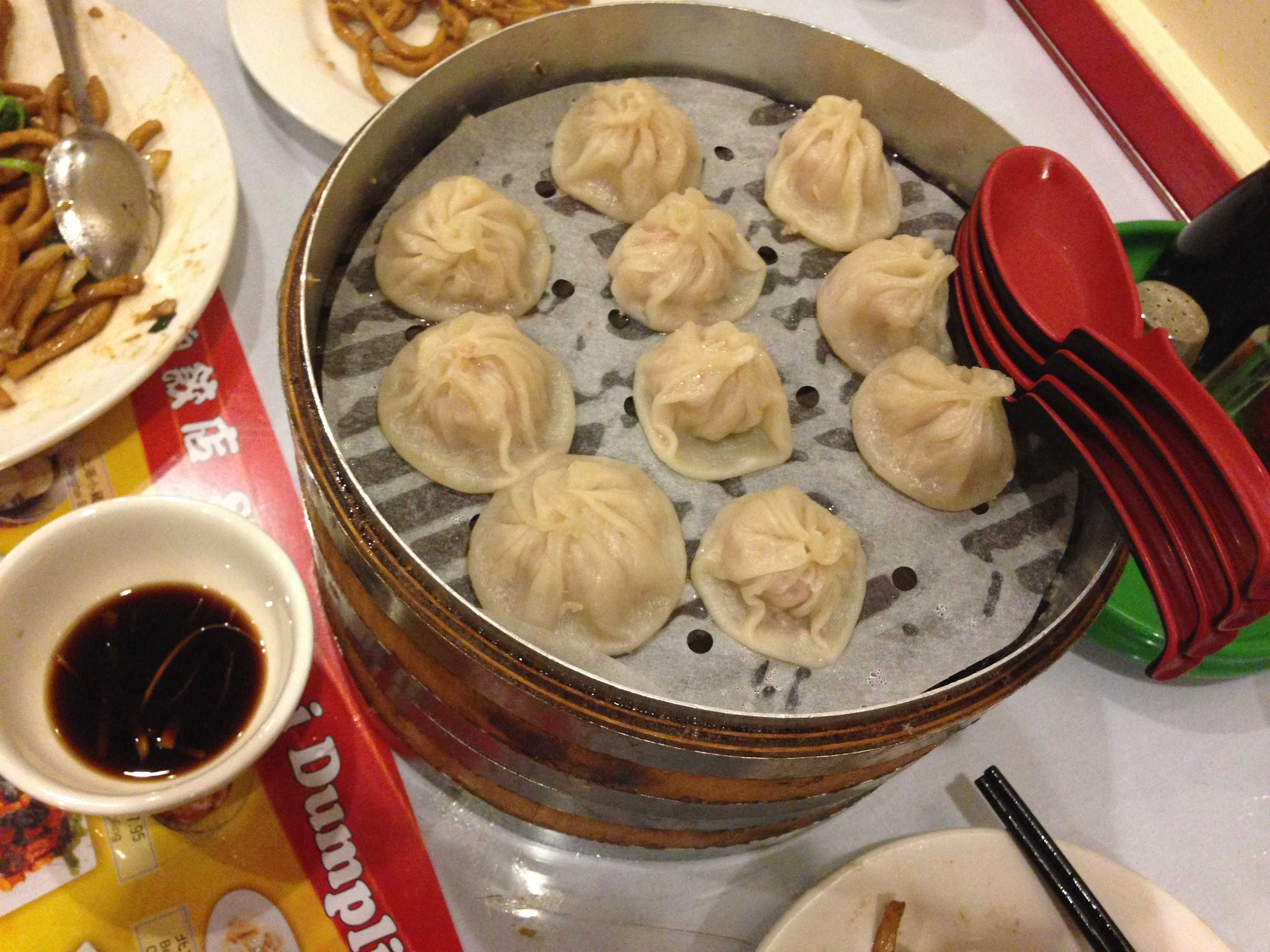 Dumplings that burst with flavor with each bite served at Shanghai Dumpling Shop.