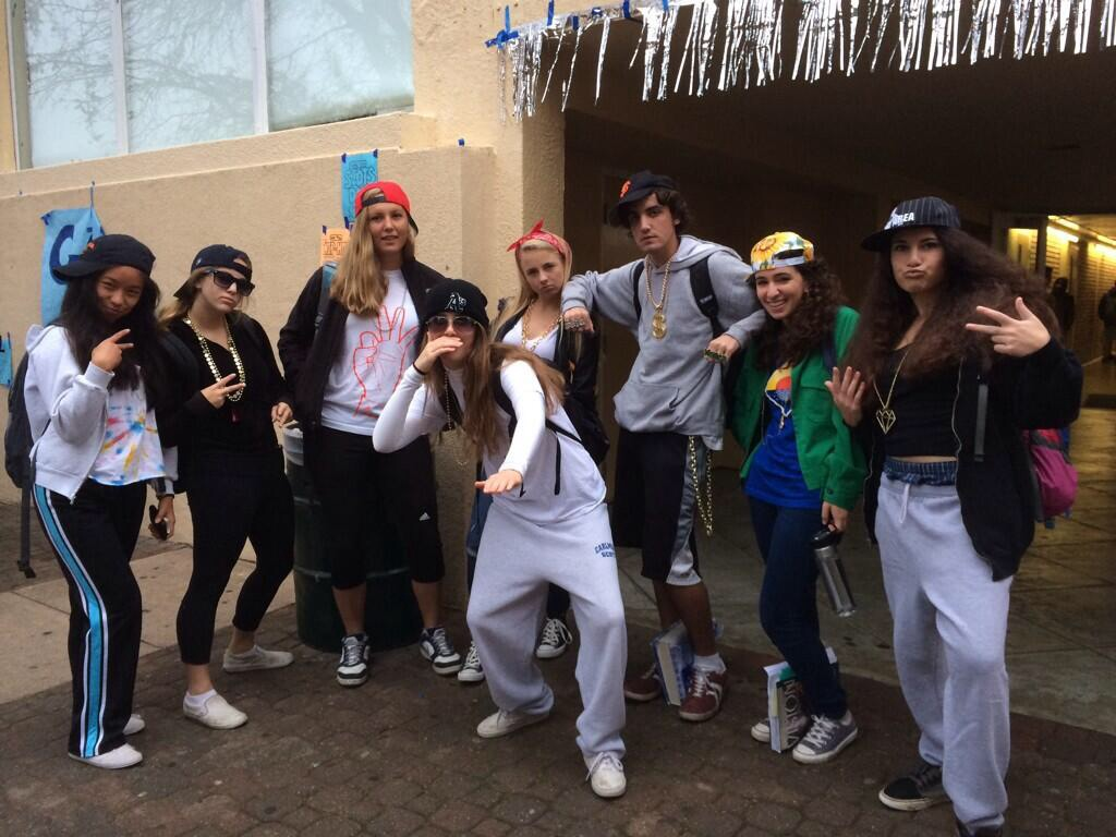 Students show off their spirit on Hip-Hop vs. Country Day