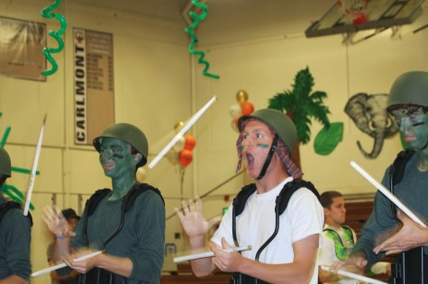 Exciting assembly kicks off homecoming celebrations