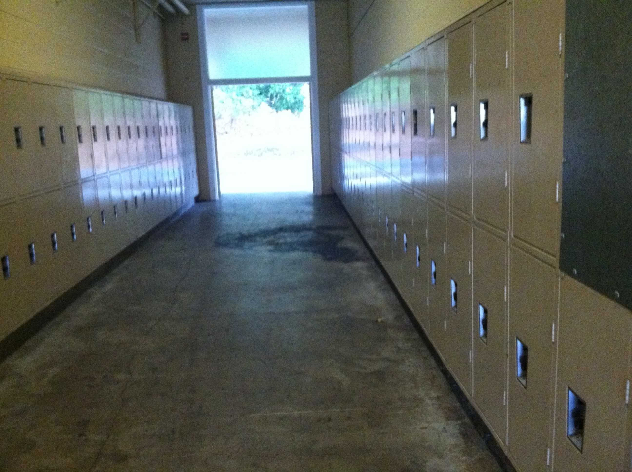 The T-hall lockers are far away from the main buildings, and students often do not use them.