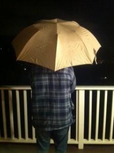 Raise those umbrellas, it's raining