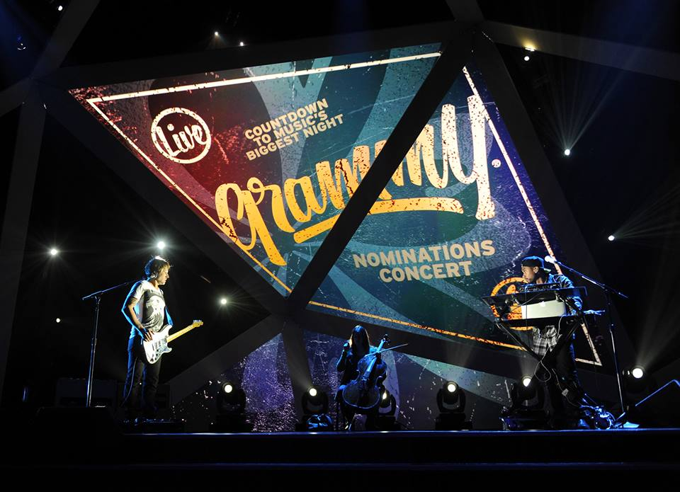 Keith Urban and Miguel performing together at the Grammy Nominations.