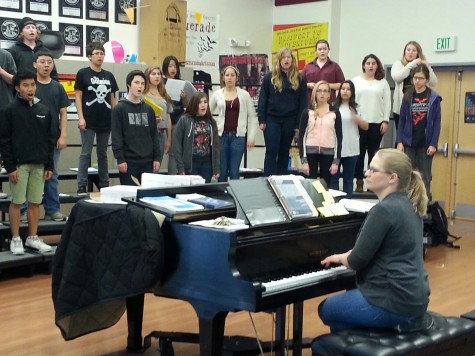 Choir students prepare for placement assessments