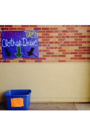 Carlmont cares: leadership's clothes drive