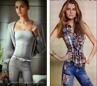 Ralph Lauren's photoshopped magazine advertisements