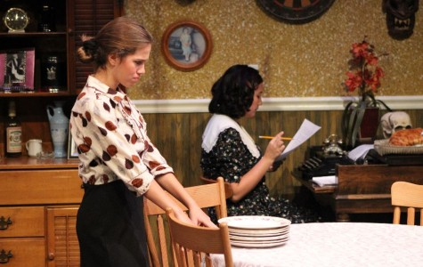 Fall play relates to students confronting the future