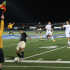 A referee declares offsides in Carlmont's game against Archbishop Mitty on Dec. 9.