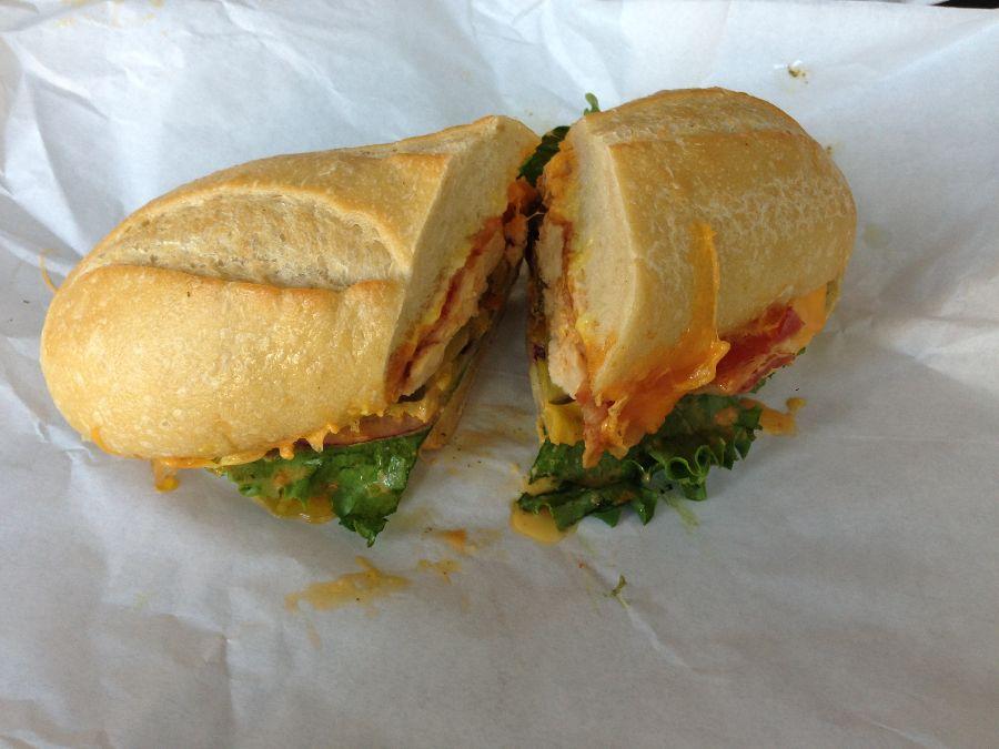 The Sandwich Spot's Belmont Blast sandwich was delicious.  http://thesandwichspot.com/