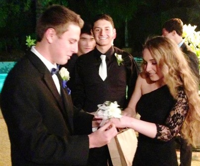 Senior Alex Pennes demonstrates that third-wheeling can be fun.