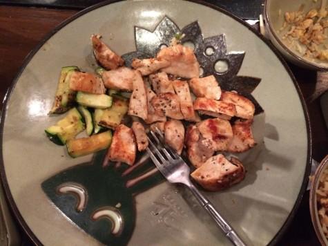Chicken and zucchini dish
