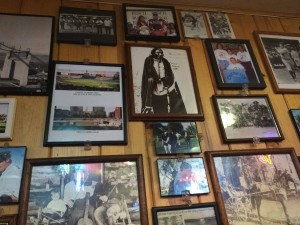 The walls of Canyon Inn are covered in photographs, magazine cutouts and sports photos signed by local athletes.