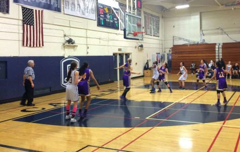 Girls varsity basketball wins CCS game over Monta Vista