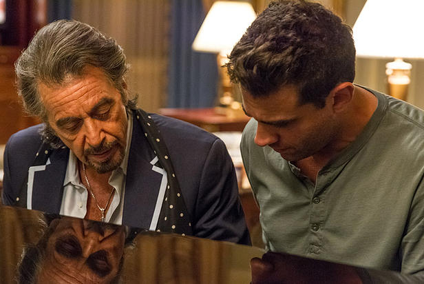 Danny+Collins+%28Al+Pacino%29+teaches+his+trade+to+his+son+%28Bobby+Cannavale%29+in+an+effort+to+earn+trust+and+a+place+within+the+family.