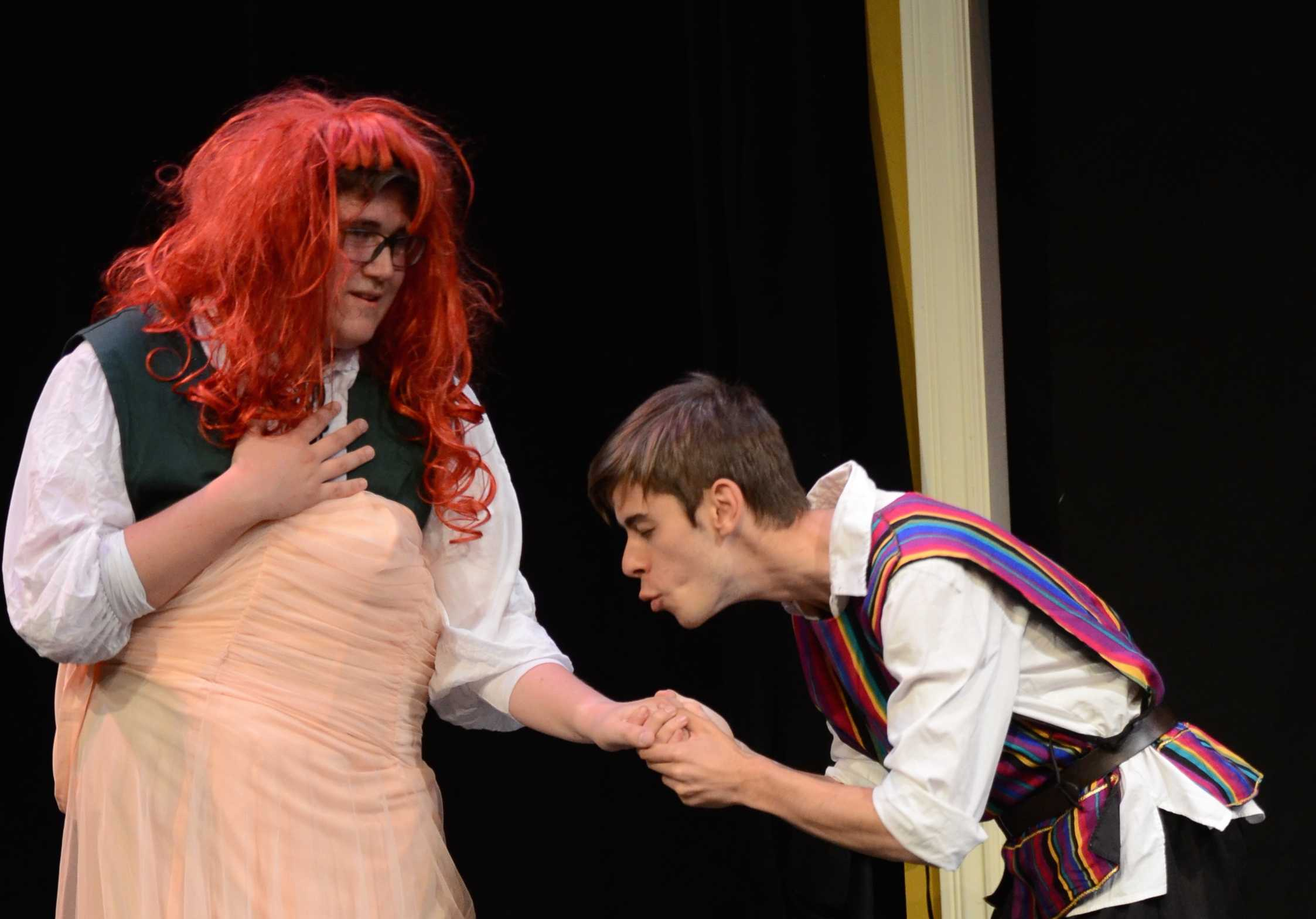 Junior Denis Yudin and senior Daniel Thompson played the parts of Romeo and Juliet respectively.