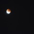 The blood moon glows for some of its last few moments late Sunday night.