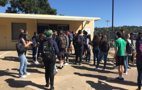 Students endure long waits for food
