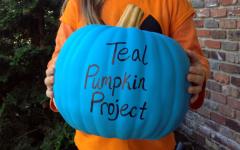 Teal pumpkins offer an alternative to Halloween candy