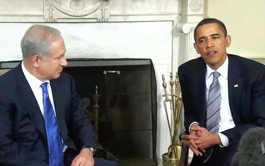 The+President+talks+with+Israel+Prime+Minister+Netanyahu+about+Palestinian+militarism.