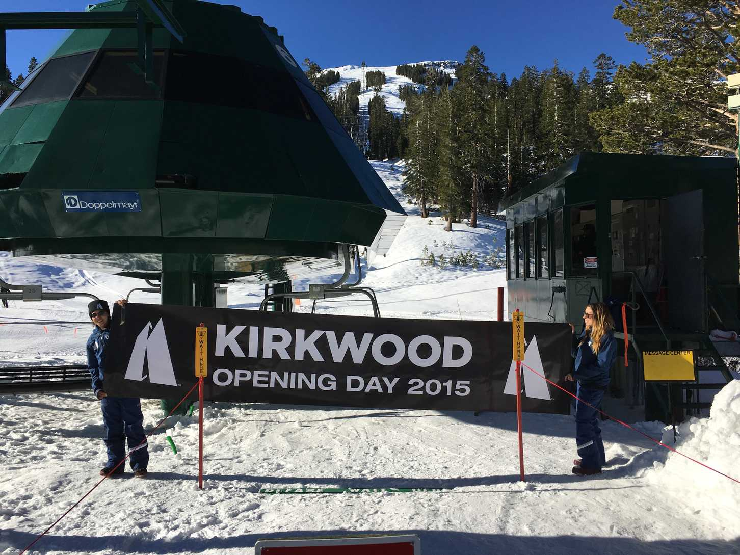 On Nov. 14 Kirkwood Mountain Resort turned on its lifts for the first time this season for about 500 skiers.