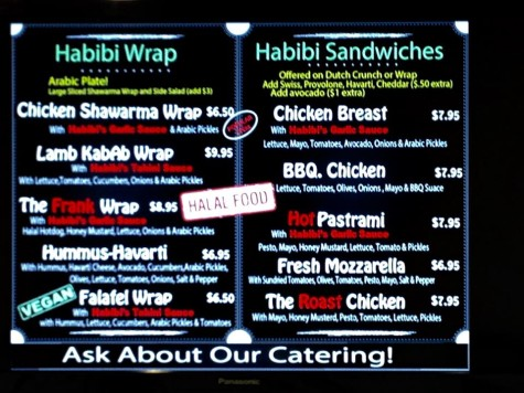 Habibi's offers so many delicious choices it's hard to make a quick decision.