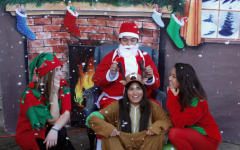 Santa and his elves visit Carlmont for the holidays