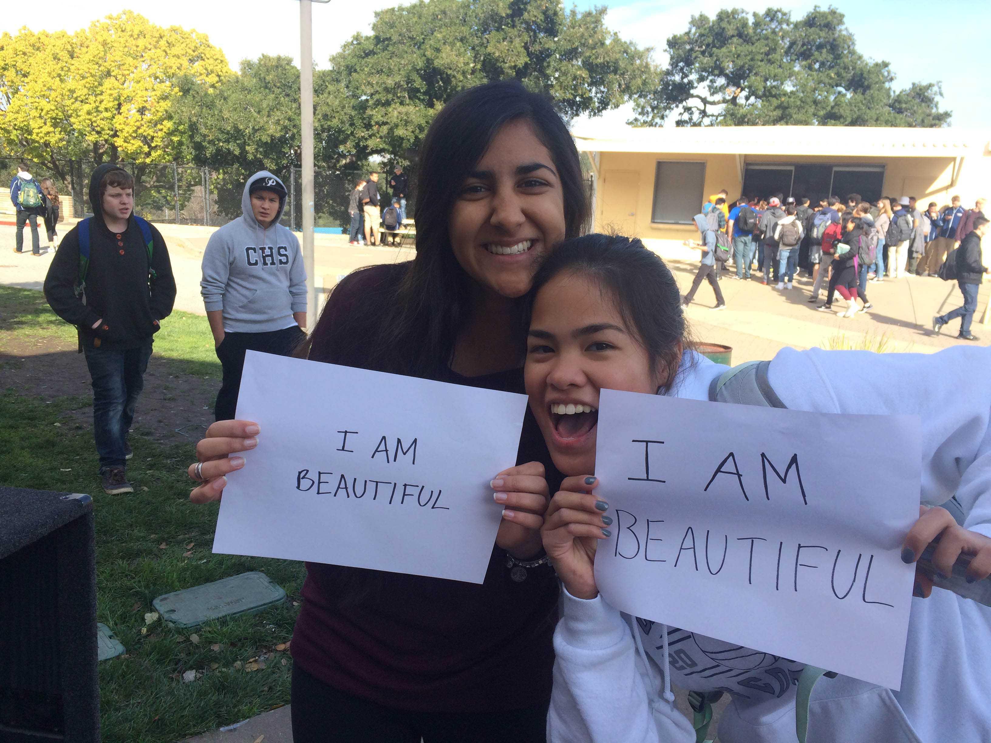 Junior Millan Kanaya and sophomore Tyrese Lopez celebrate their beauty.