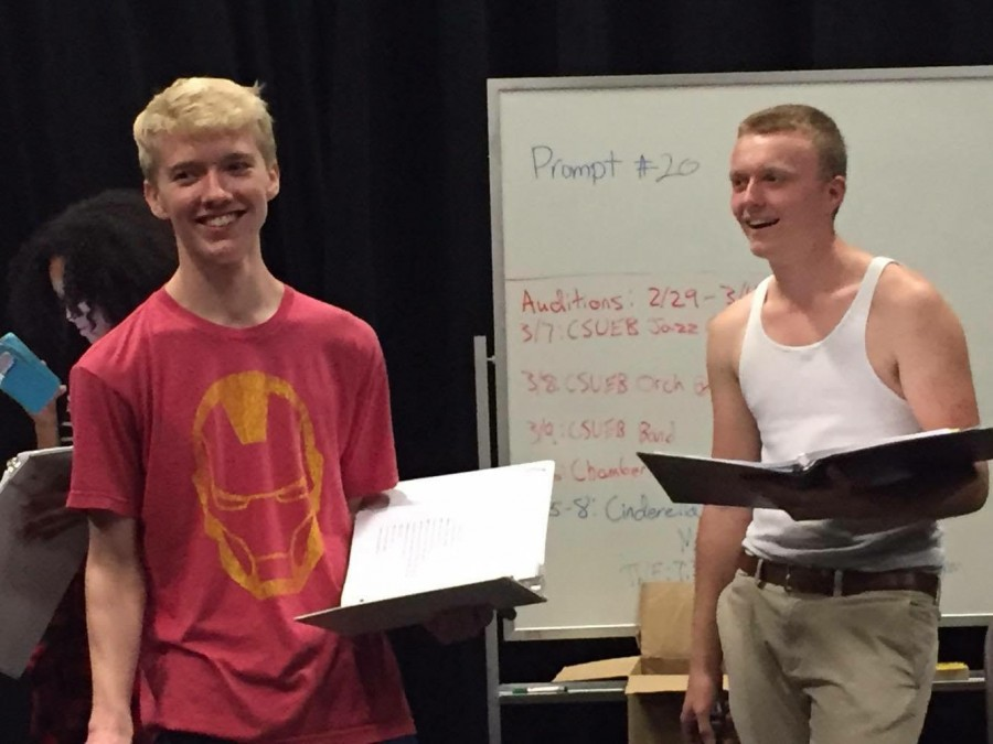 Students+rehearse+and+become+familiar+with+their+roles+for+the+spring+play+%22Beyond+the+Pages.%22