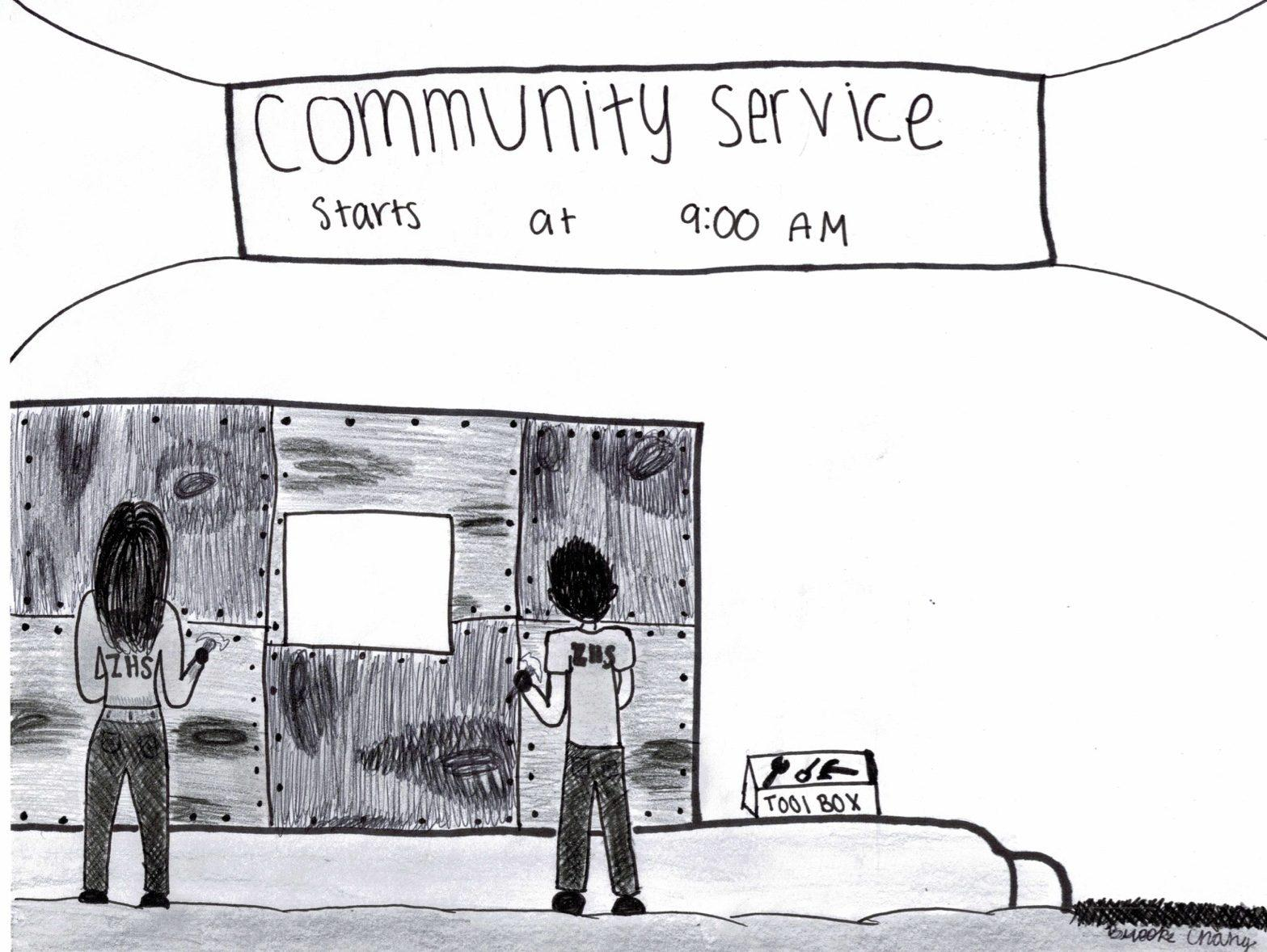 Unlike many other high schools, Carlmont does not require its students to do community service as a graduation requirement.