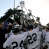 """After Holmes, one of the captains, rouses the team with an encouraging speech, the Scots raise their lacrosse sticks and scream, """"Let's do this!"""""""