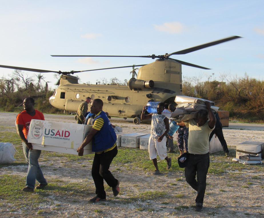 Joint Task Force Matthew distributes relief supplies to hurricane-stricken areas.
