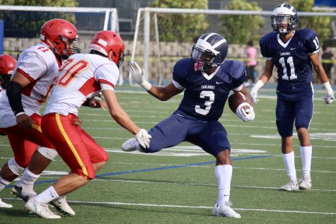 Varsity football continues winning streak against Mills