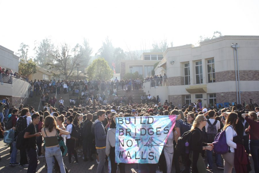 Students+rallied+together+in+the+quad+to+support+each+other+during+a+time+of+political+distress.