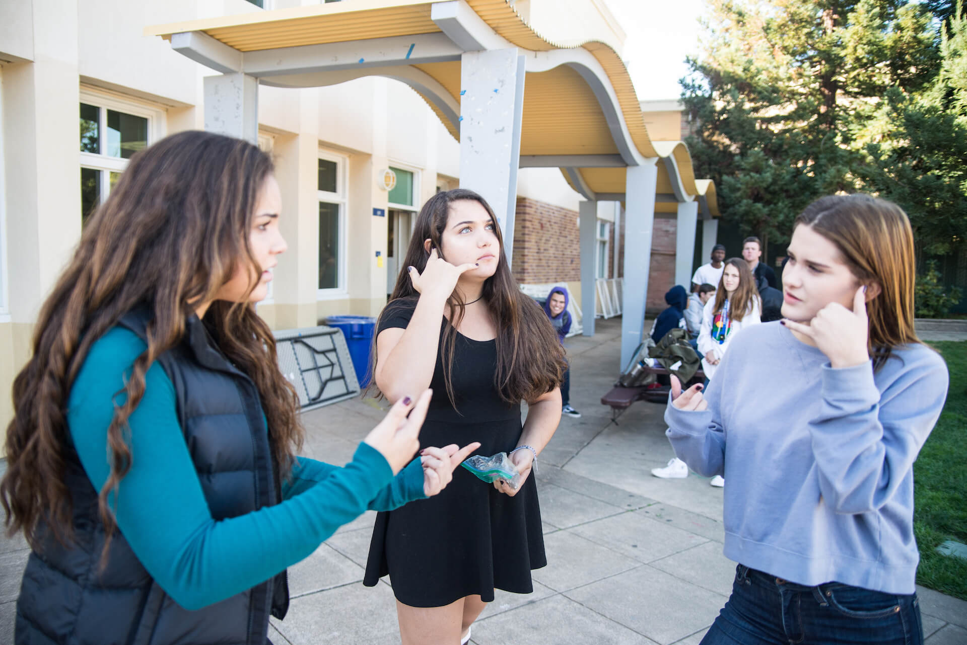 Students strike a pose and stay still, in hopes of executing a perfect mannequin challenge.