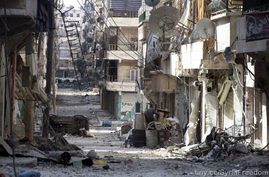 Since+2012%2C+the+city+of+Aleppo+has+been+damaged+by+constant+battles+between+the+Assad+regime+and+rebel+forces.