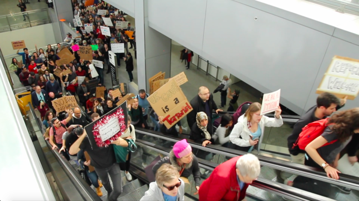 Protesters and lawyers show support at SFO