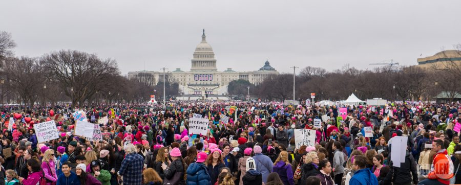 In the District of Columbia, women marched outside the Capitol Building to show support for each other in the wake of Donald Trump