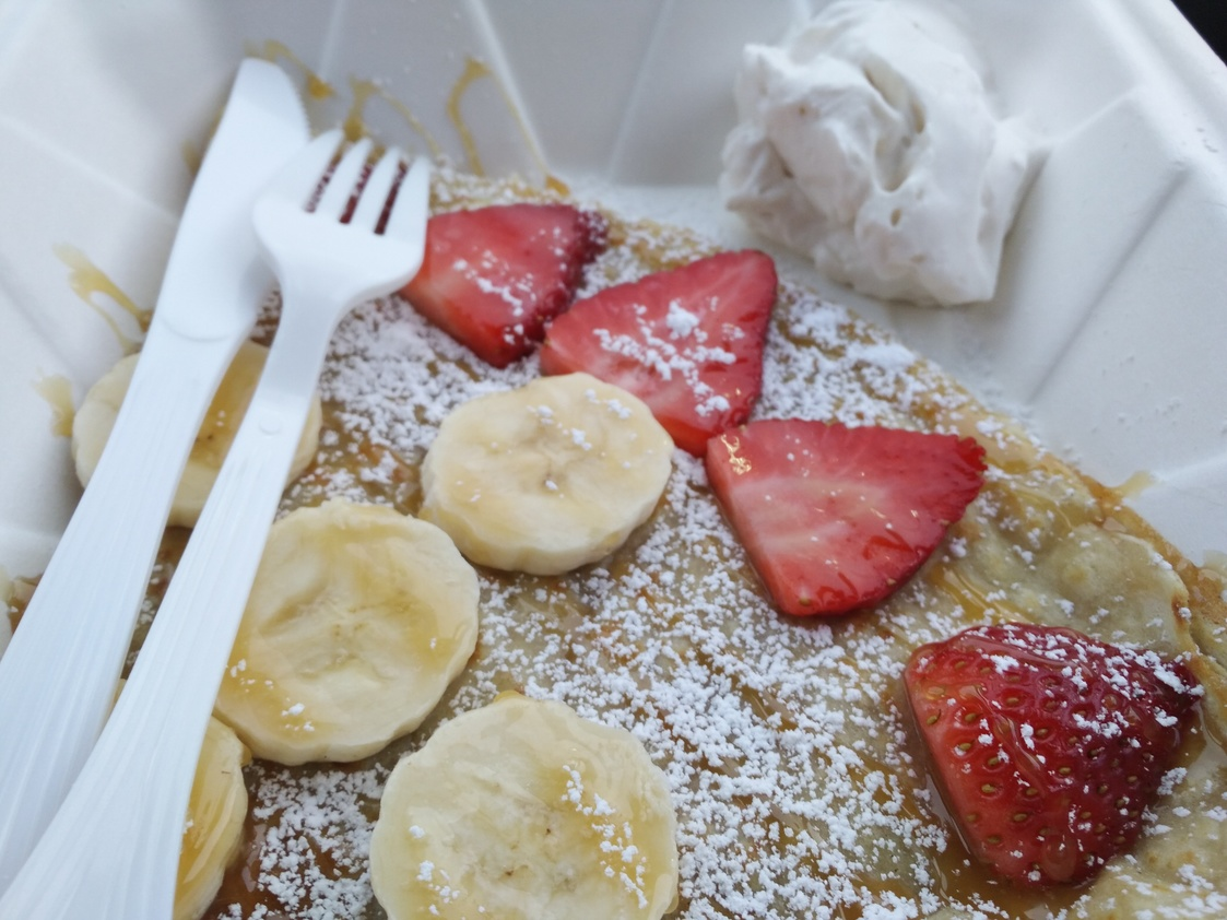 This crepe is truly as good as it looks -- one of the few times it is a justified description.