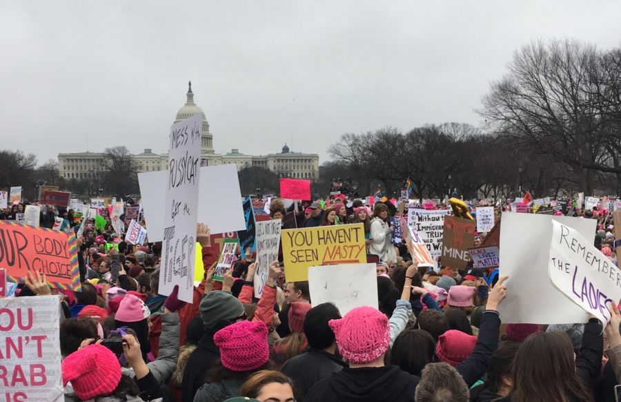 On+Jan.+21%2C+nearly+1+million+people+marched+in+support+of+equal+rights+in+Washington+D.C.