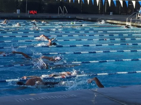 Carlmont swim team starts their preseason with a splash